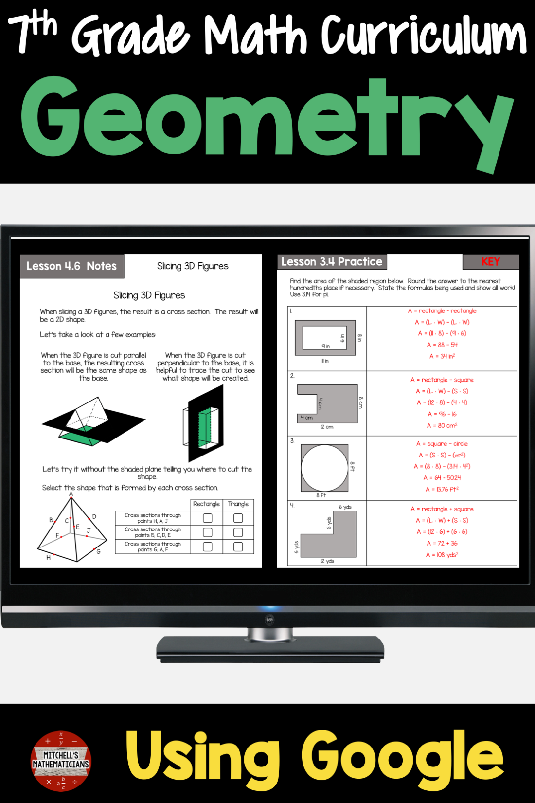 7th Grade Geometry Math Unit Using For Distance