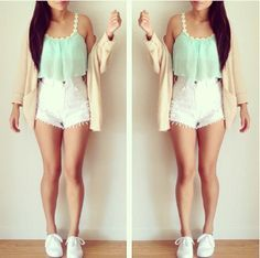 cute outfits with high waisted shorts tumblr - Google Search ...