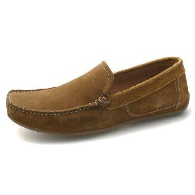 Mens Moccasin Brown Suede Driving Loafer