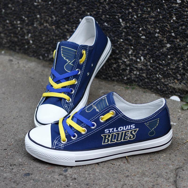 Hockey shoes, St louis blues, Canvas shoes