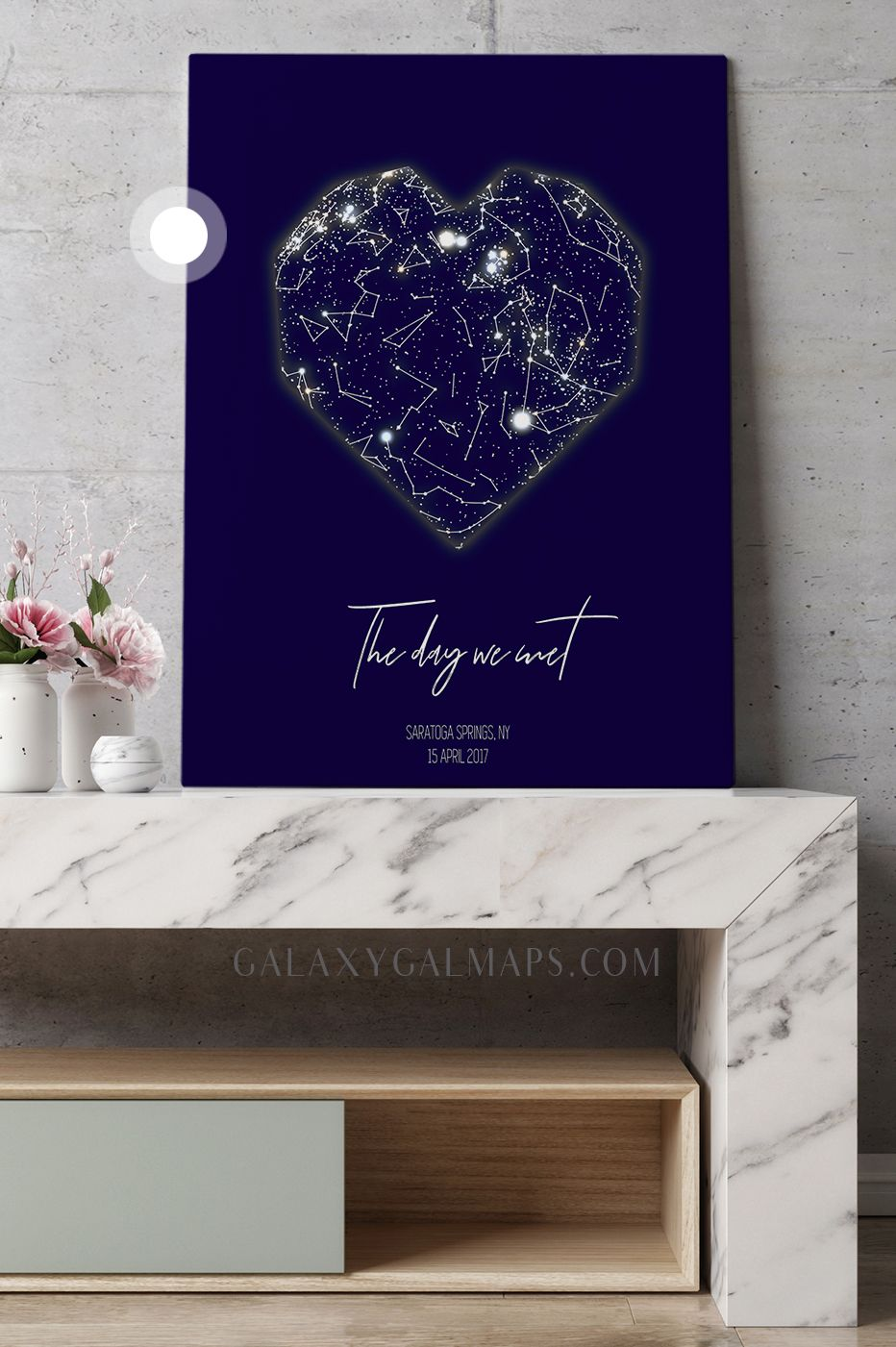 Unique sky map for your date astrology poster wall art bedroom