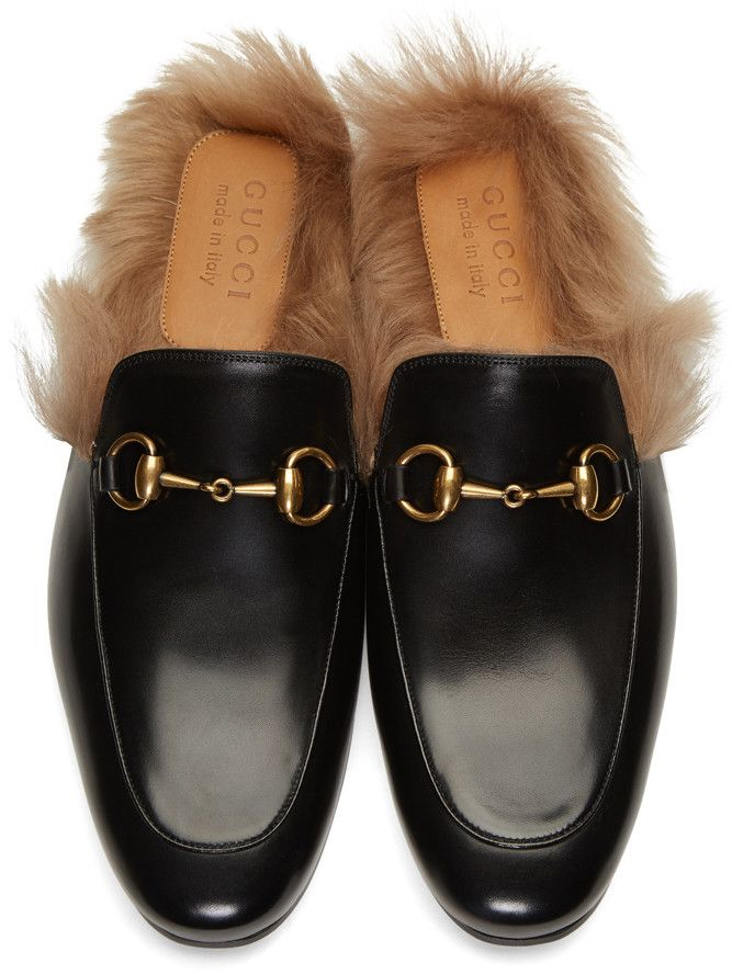 a3f5073c918c Gucci Black Princetown Slip-On Loafers in 2019
