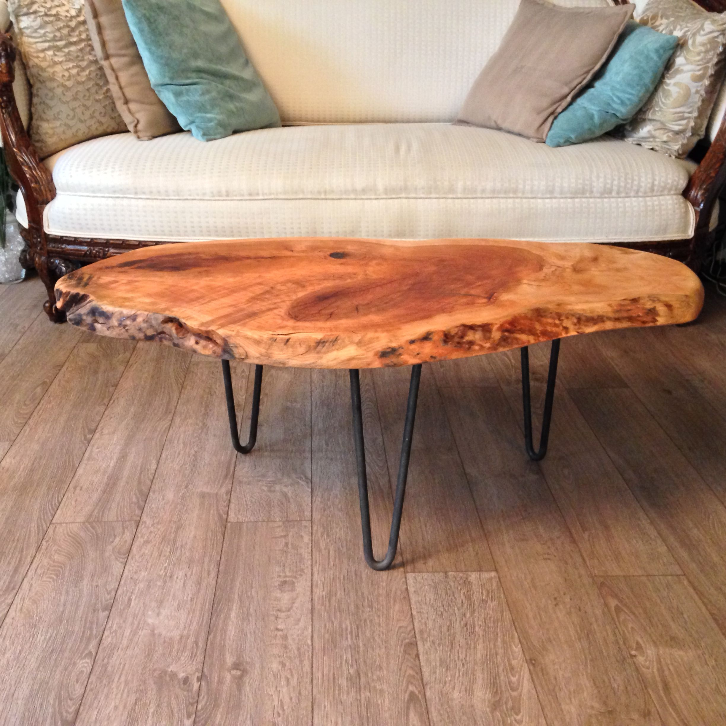 Live Edge Coffee Table Live Edge Cherry Knot Coffee Table Wood Tables