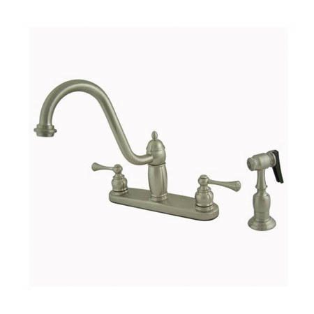 Heritage Double Handle Centerset Kitchen Faucet with Buckingham Lever Handles