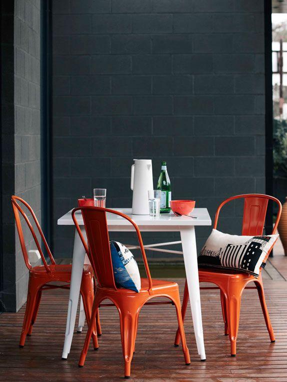 orange french cafe chairs kitchens en 2019 orange interior rh pinterest es