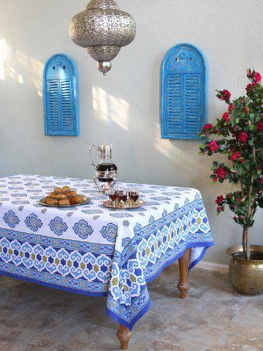 casablanca moroccan theme style white quatrefoil tablecloth 70x90 rh pinterest co uk
