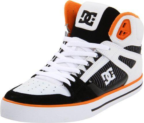 Dc Men S Spartan High Wc Skate Shoe White Black Citrus Skate Shoes Sneakers Men Dc Shoes