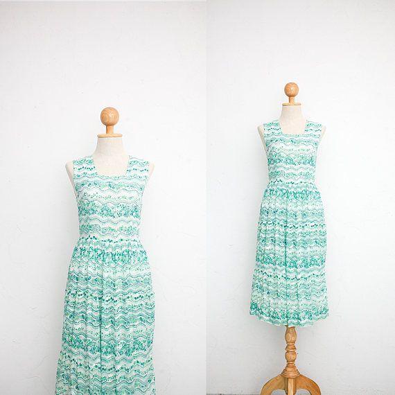 5f9728b7d204 60s Japanese Gauze Cotton Sundress