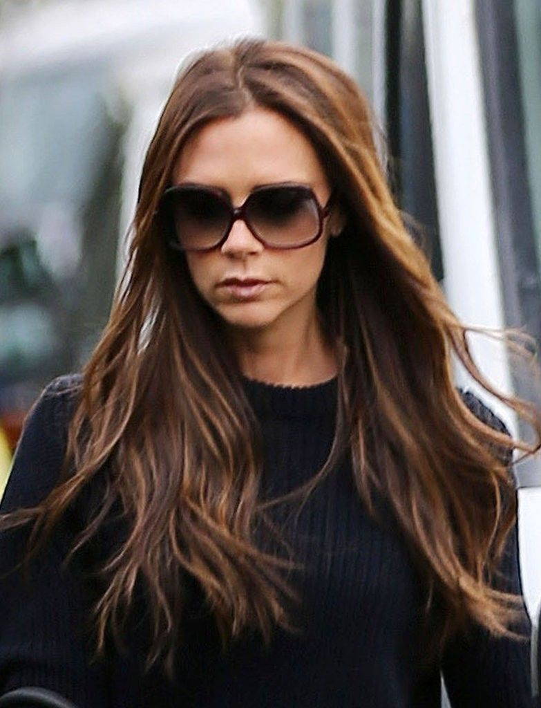 Victoria Beckham Wore Sunglasses And Long Hairstyles  Victoria