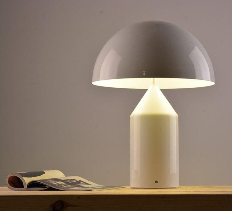 Lampe A Poser Atollo Blanc H70cm Oluce Luminaire Vintage Luminaire Lampes De Sol Modernes