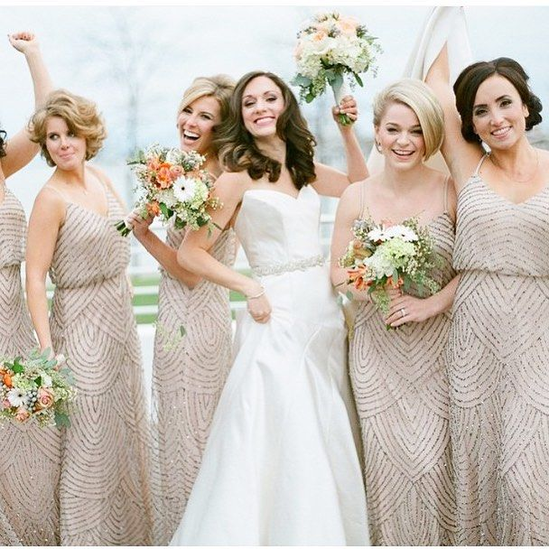 Textured Bridesmaid Dresses