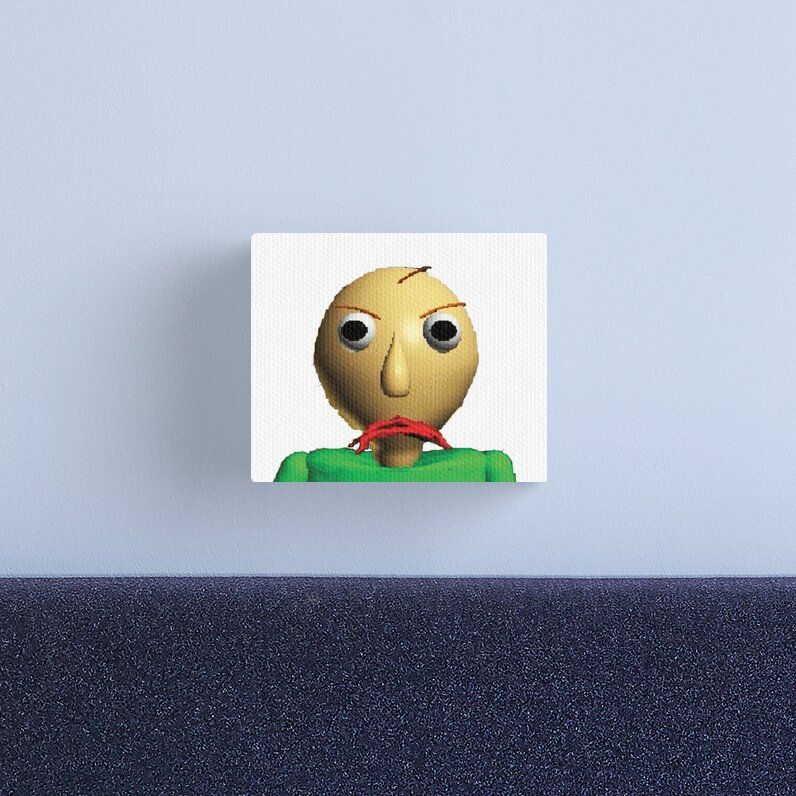 Baldi S Basics In Education And Learning Canvas Print By Merchgamestore In 2020 Canvas Prints Fan Picture Canvas