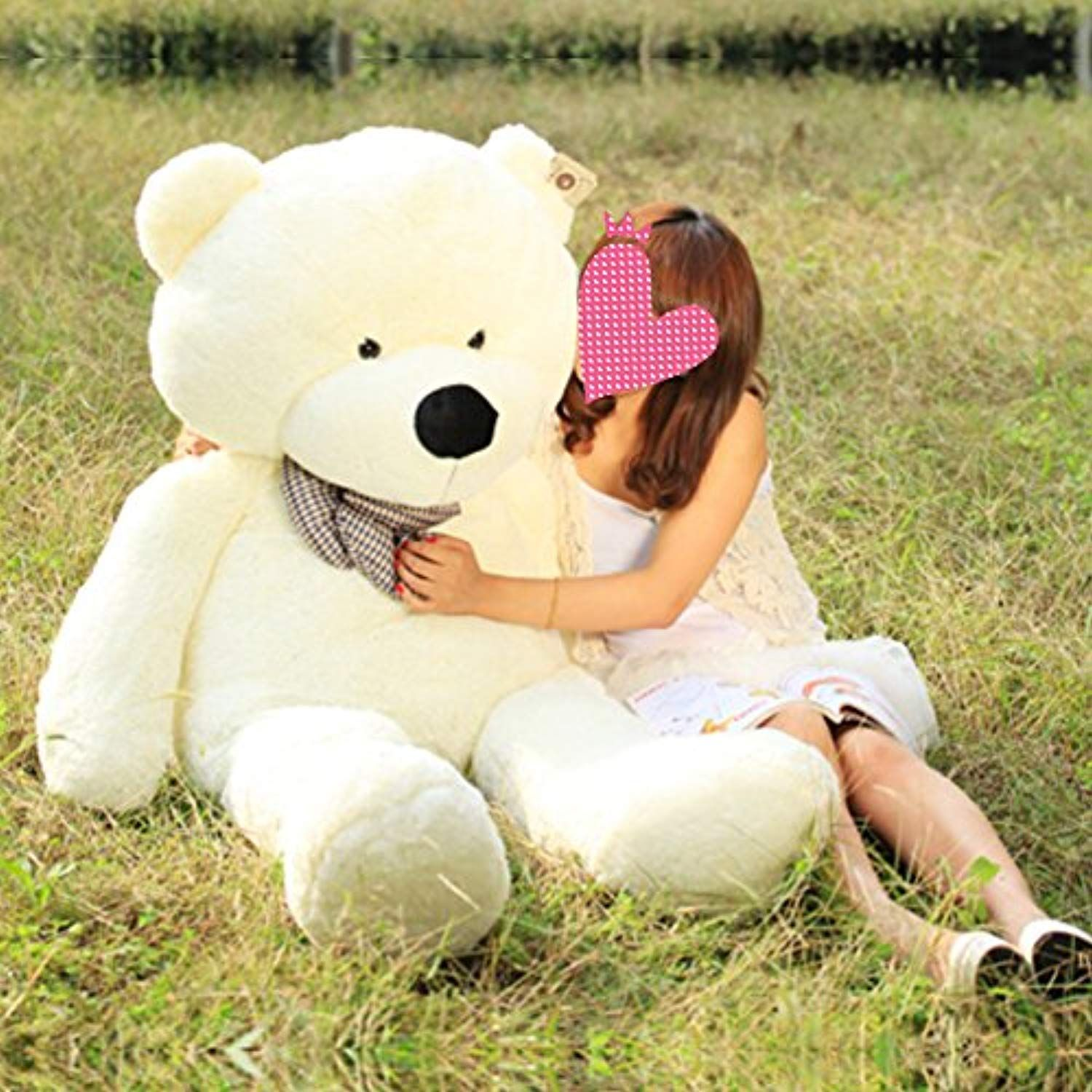 Vercart 63 Inch White Color Giant Huge Cuddly Stuffed