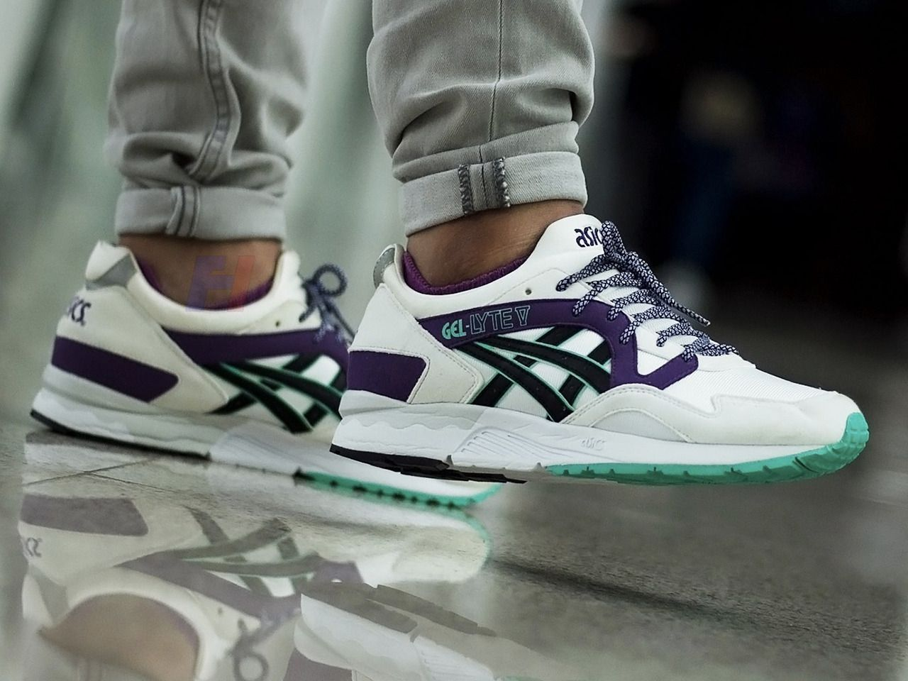 40b4b41e8437 Asics Gel Lyte V OG - White Purple - 2013 (by fran cis 29 )