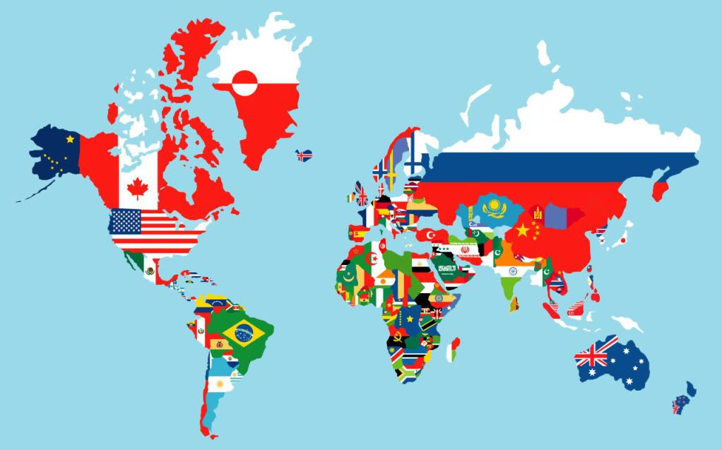 World map flags of countries maps pinterest world map flags of countries gumiabroncs Image collections
