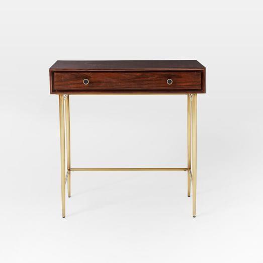 heston mid century mini desk west elm furnish your home mini rh pinterest com