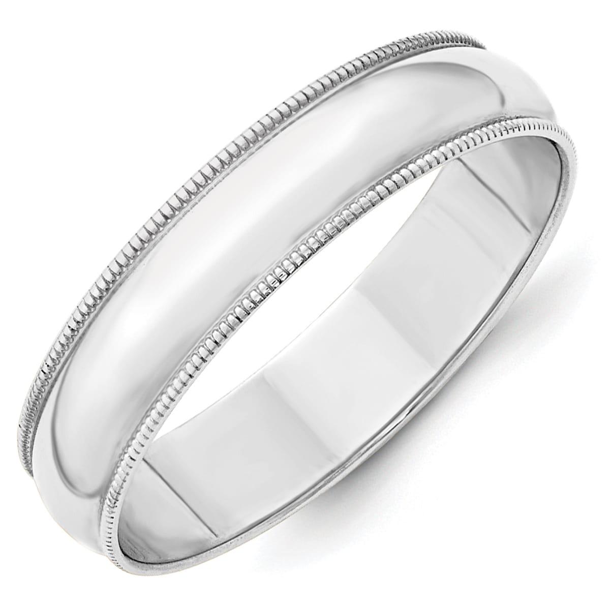 Versil 10 Karat White Gold 5mm Lightweight Milgrain Half Round Band 11 Men S Products Gold Gold Wedding Rings Size 10 Rings
