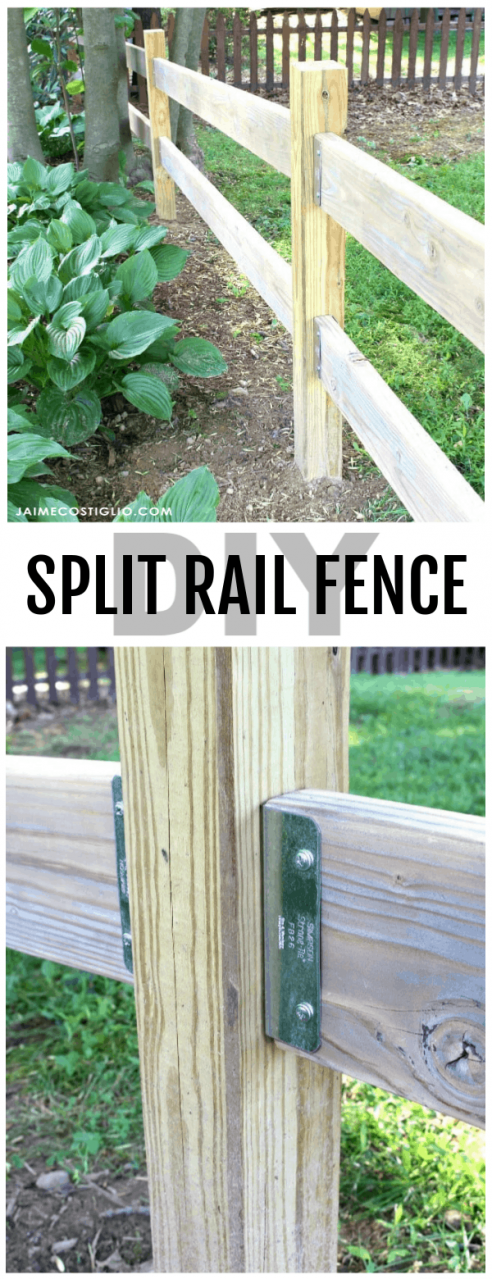 A DIY tutorial to build a split rail fence using Simpson StrongTie connectors Installing a beautiful fence made easy with awesome hardware