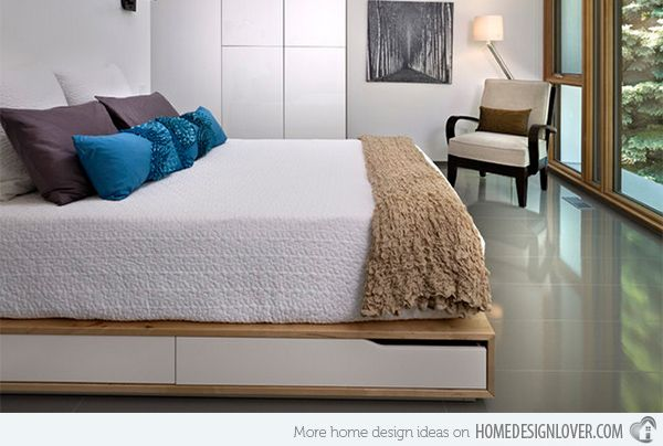 combine beauty and function in 15 storage platform beds room decor rh pinterest com