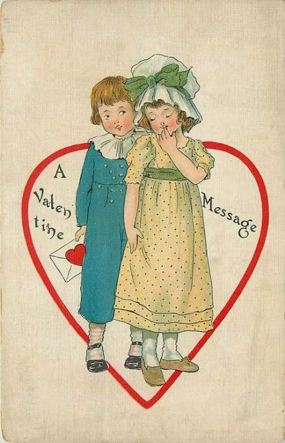 postcard.quenalbertini: Vintage Valentine Card | ilclanmariapia
