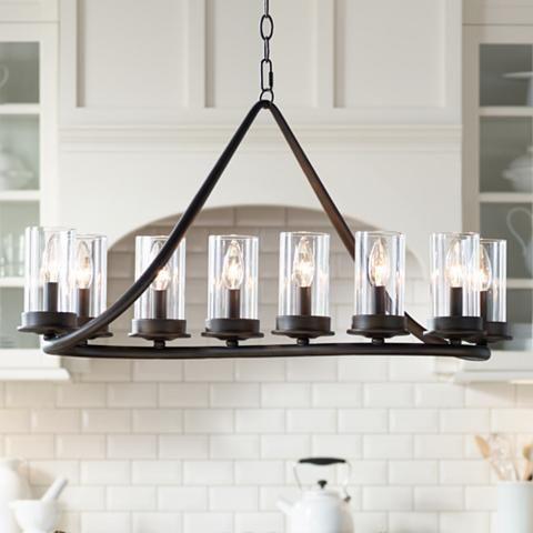 heritage 44 wide bronze 10 light island chandelier w6827 lamps rh pinterest com
