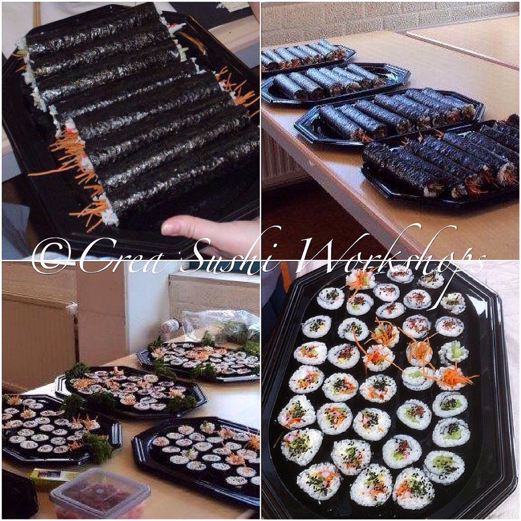 Maki sushi made during our sushiworkshop www.crea-sushiworkshops.nl