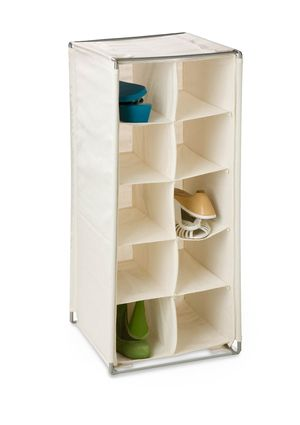 Natural Shoe Rack From Honey Can Do Features Hooks And Loop Strips To  Remove From The Frame For Easy Washing.