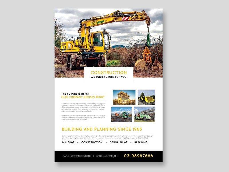 Free Construction Flyer Template Freebies Pinterest Flyer - advertising flyer templates free
