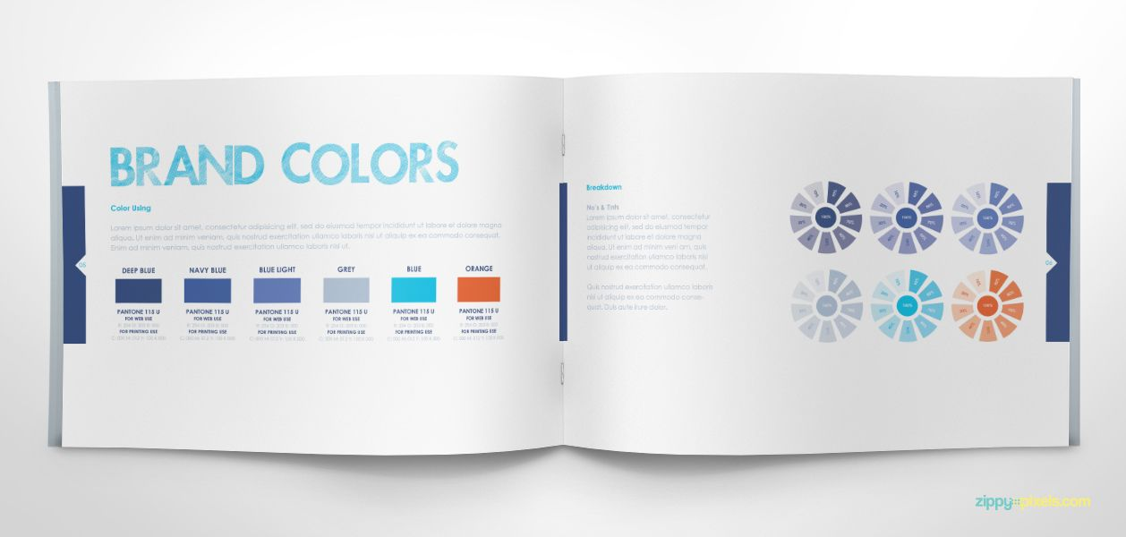 Free Brand Guidelines Template Brandbooks Design Resources - Free indesign presentation templates