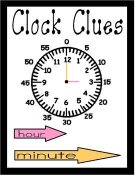 Clock Clues Teaching Math Kindergarten Math Math Measurement