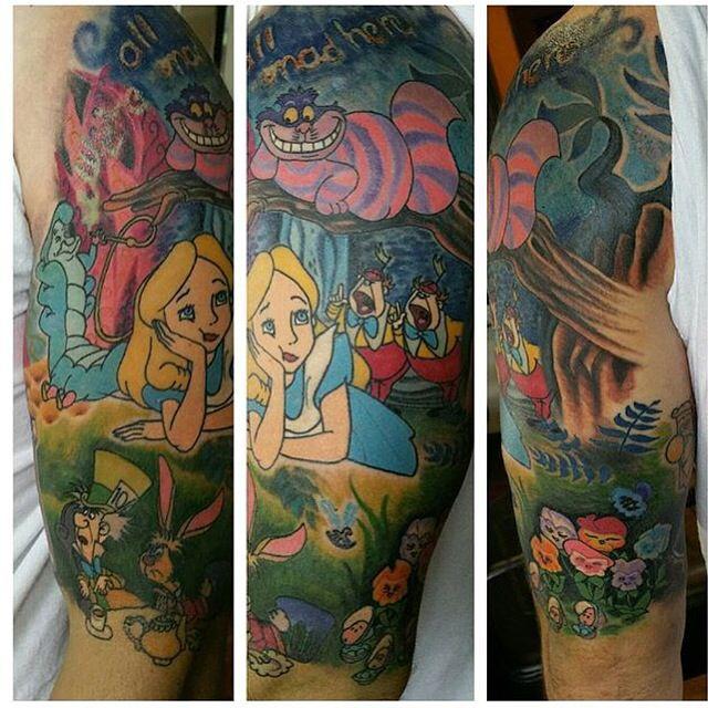 6f15e7ca1 Alice In Wonderland half sleeve. #rainingink #columbia TN | tattoos ...