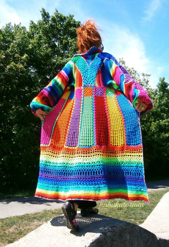 Knitted Crocheted Granny Patchwork Multicolor by babukatorium, $330.00 inspiration