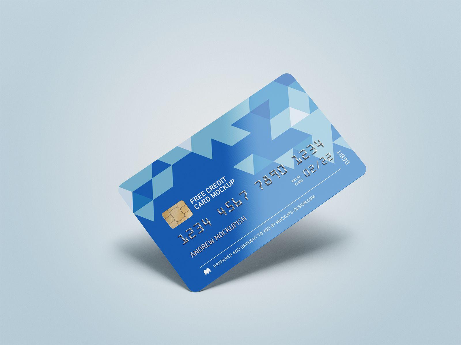 Free Credit Card Mockup Psd Free Mockup Free Credit Card Credit Card Design Bank Card