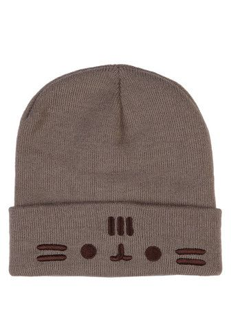 Pusheen The Cat Face Fold Beanie