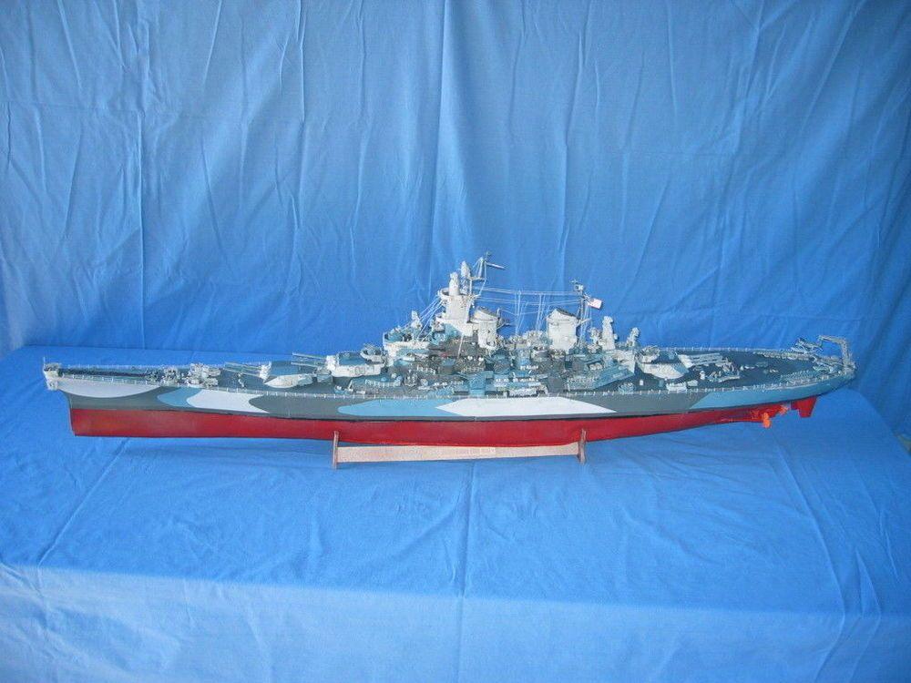 1:200 106cm WWII USS Missouri Iowa-class battleship Paper Model PDF ...