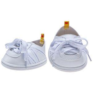Build-A-Bear Workshop-United Kingdom: White Sparkle Tennis Shoes