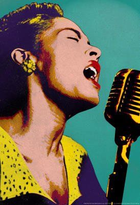 Amazon com: (11x17) Billie Holiday Blue Pop Art Music Poster