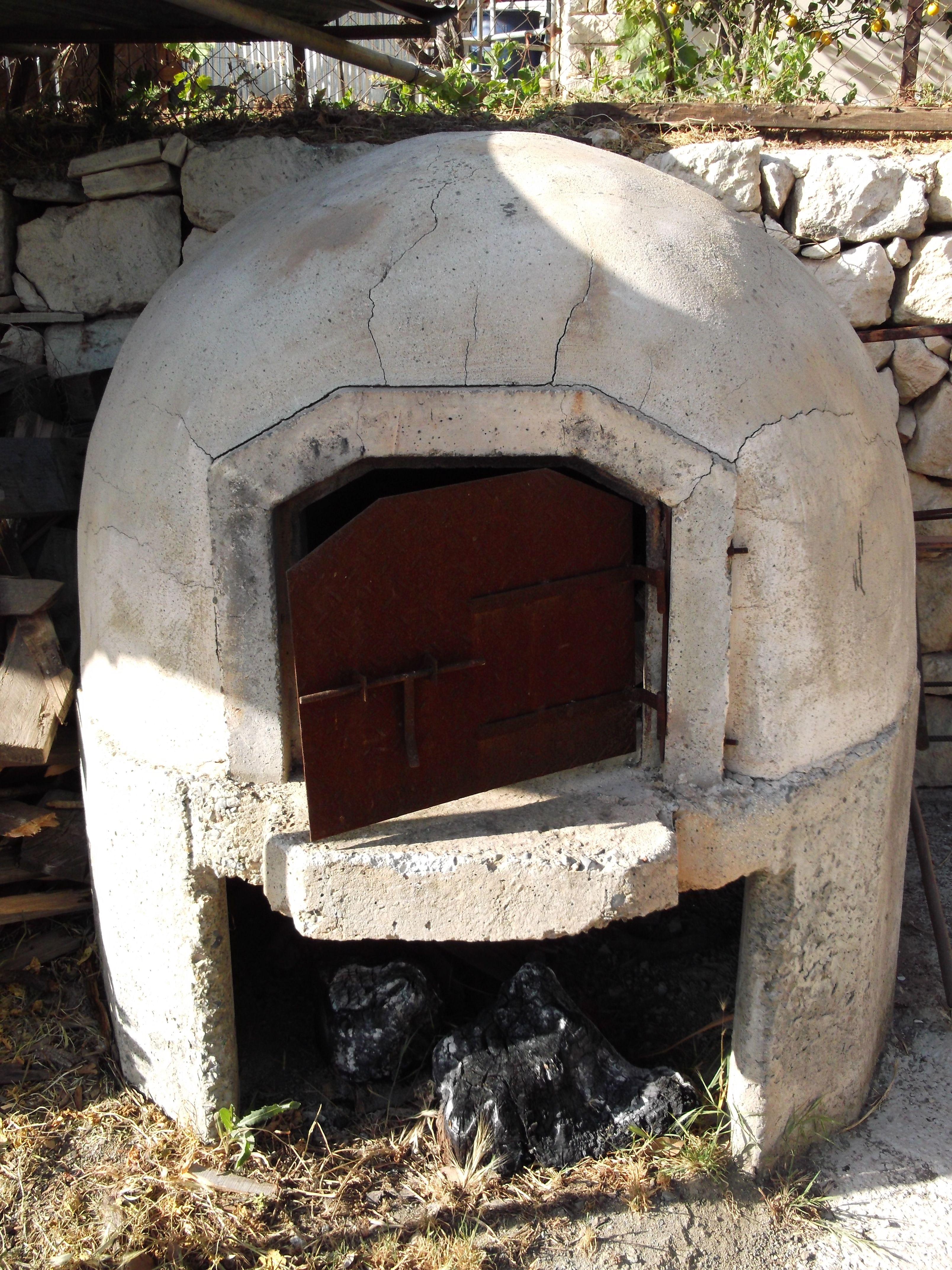 Very Old Greek Style Pizza And BBQ Oven In Cyprus Perfect Rustic Cooking For Meat Roasts Bread Baking Bbq Reppined By Bbqsecretsca