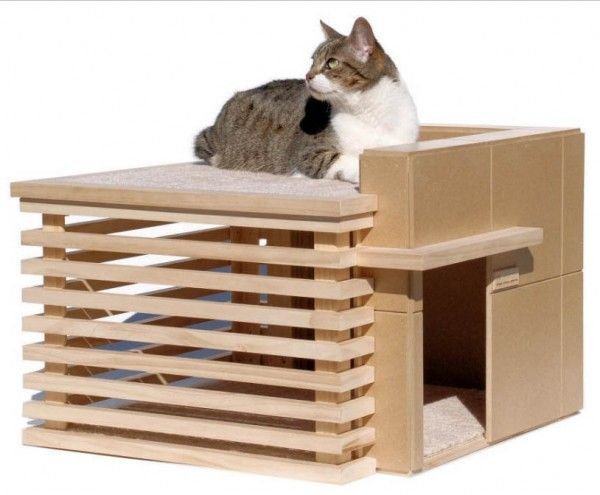 Frank Lloyd Wright Inspired Mancat Mancave Mousebreath Modern Cat Furniture Cat Furniture Cat House Diy
