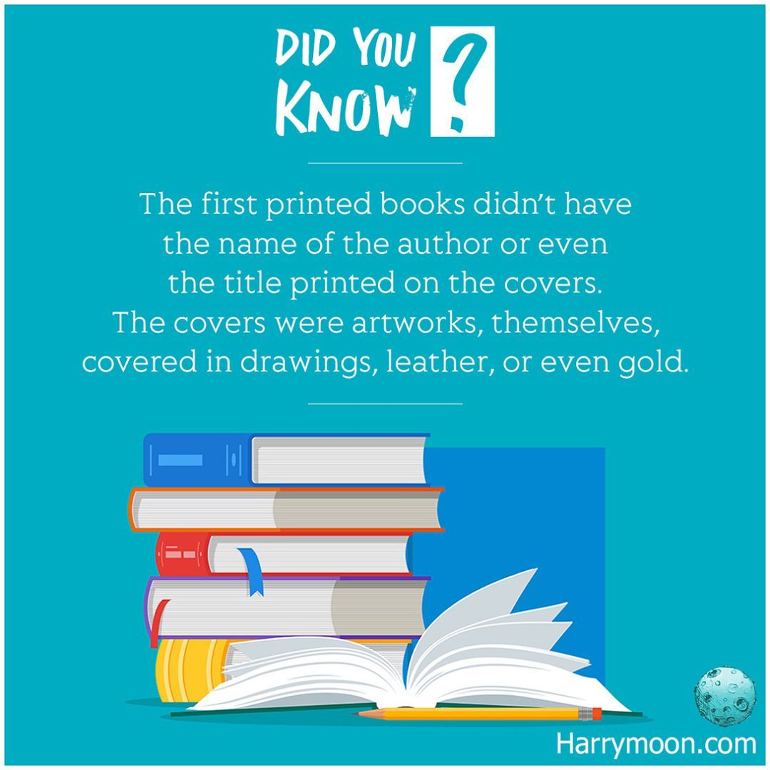 The First Printed Books Didn T Have The Name Of The Author