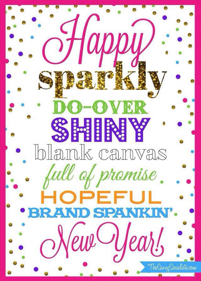 Happy sparkly Do-Over Shiny blank canvas full of promise Hopeful ...