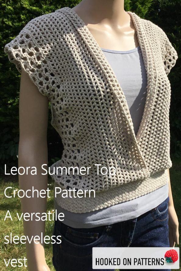 Crochet Sleeveless Top Leora Summer Tops Clothing And Crochet
