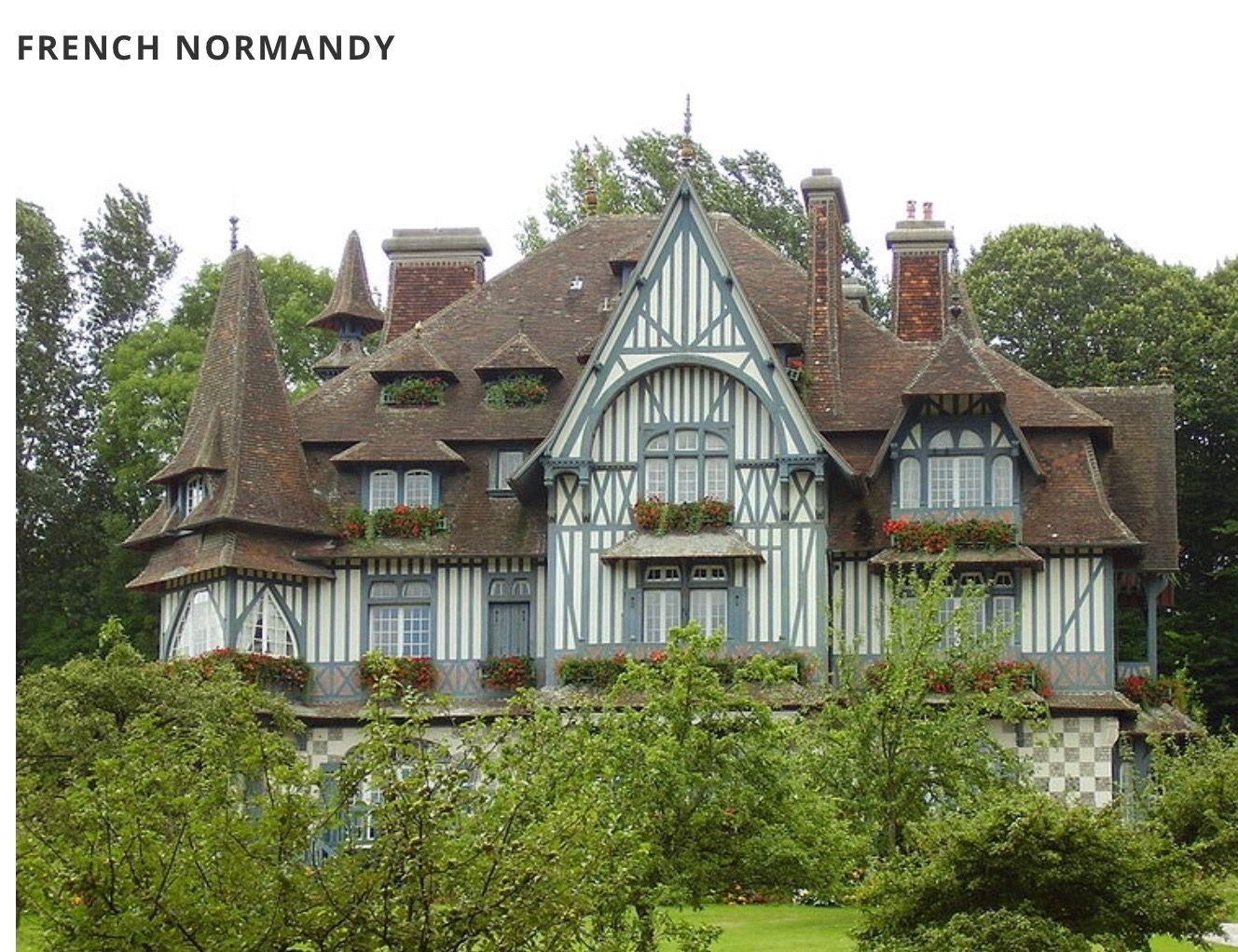 French Normandy Style House Styles Architecture Exterior Paint