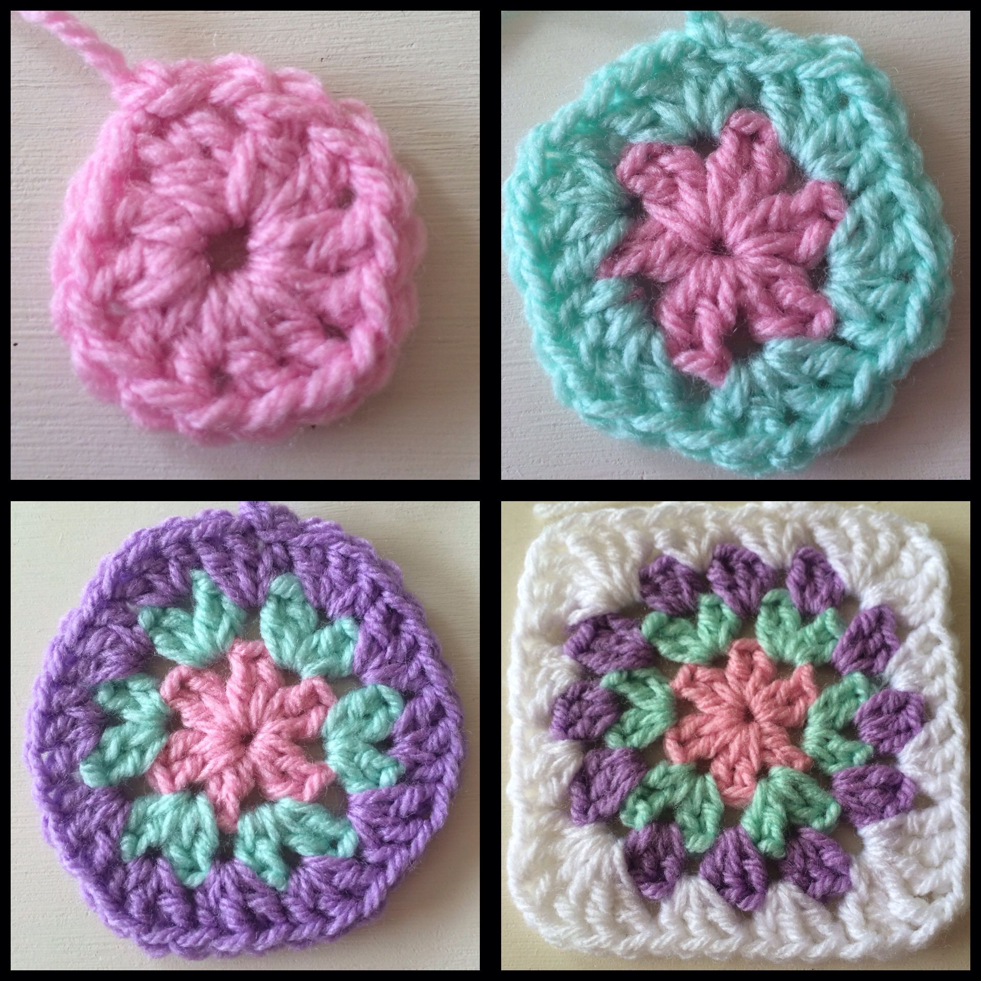 #crochet #grannysquare #circlegrannysquare #craft #yarncraft #diy #yarn