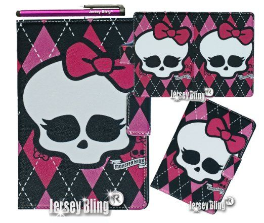 MONSTER HIGH Skull Punk Girly iPad 2 3 or 4 Lightweight Slim Smart Cover/Case with FREE Monster High Gift Item & Jersey Bling® Stylu...