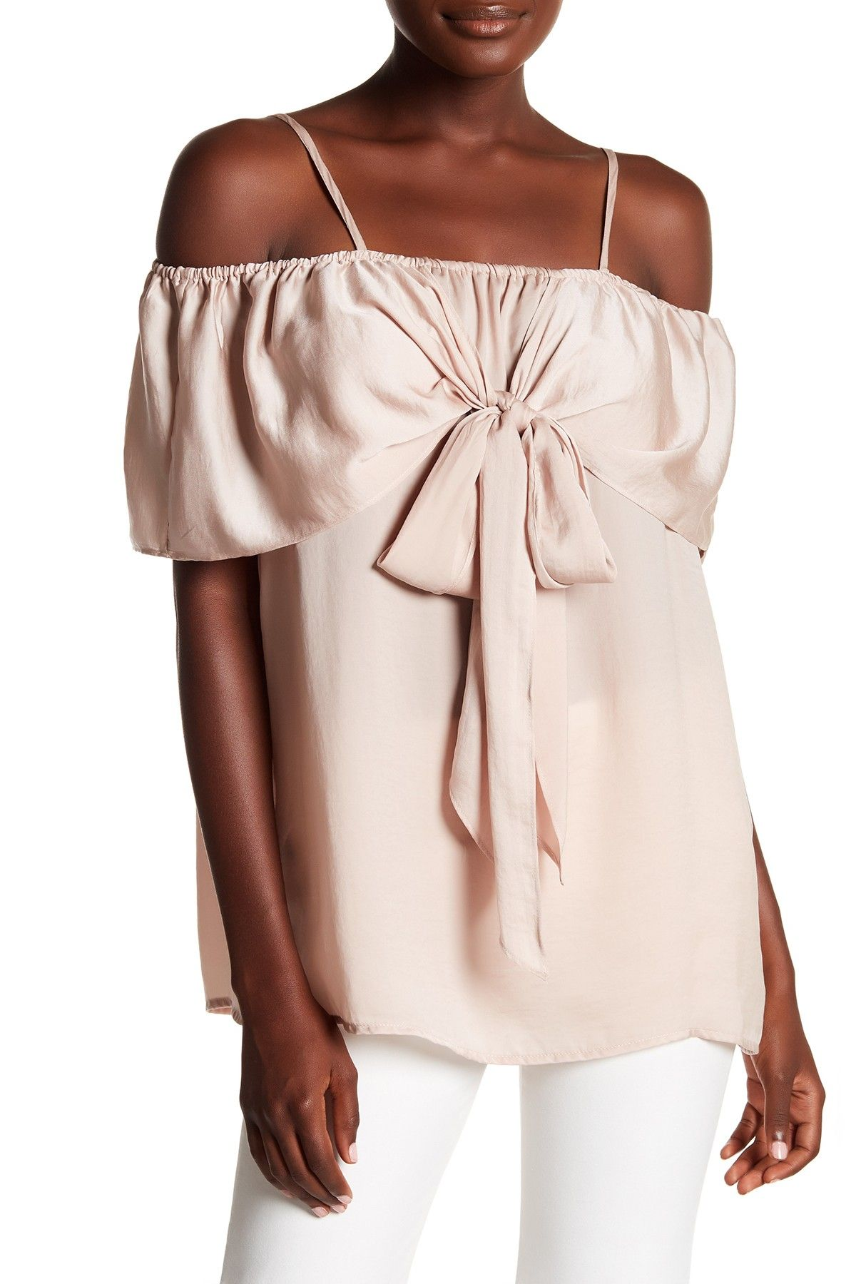 e2dffa910bb867 Cold Shoulder Hammered Satin Blouse by Pleione on  nordstrom rack