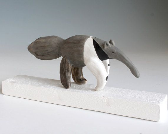 Ceramic sculpture Ceramic Anteater Giant Anteater by midoritakaki