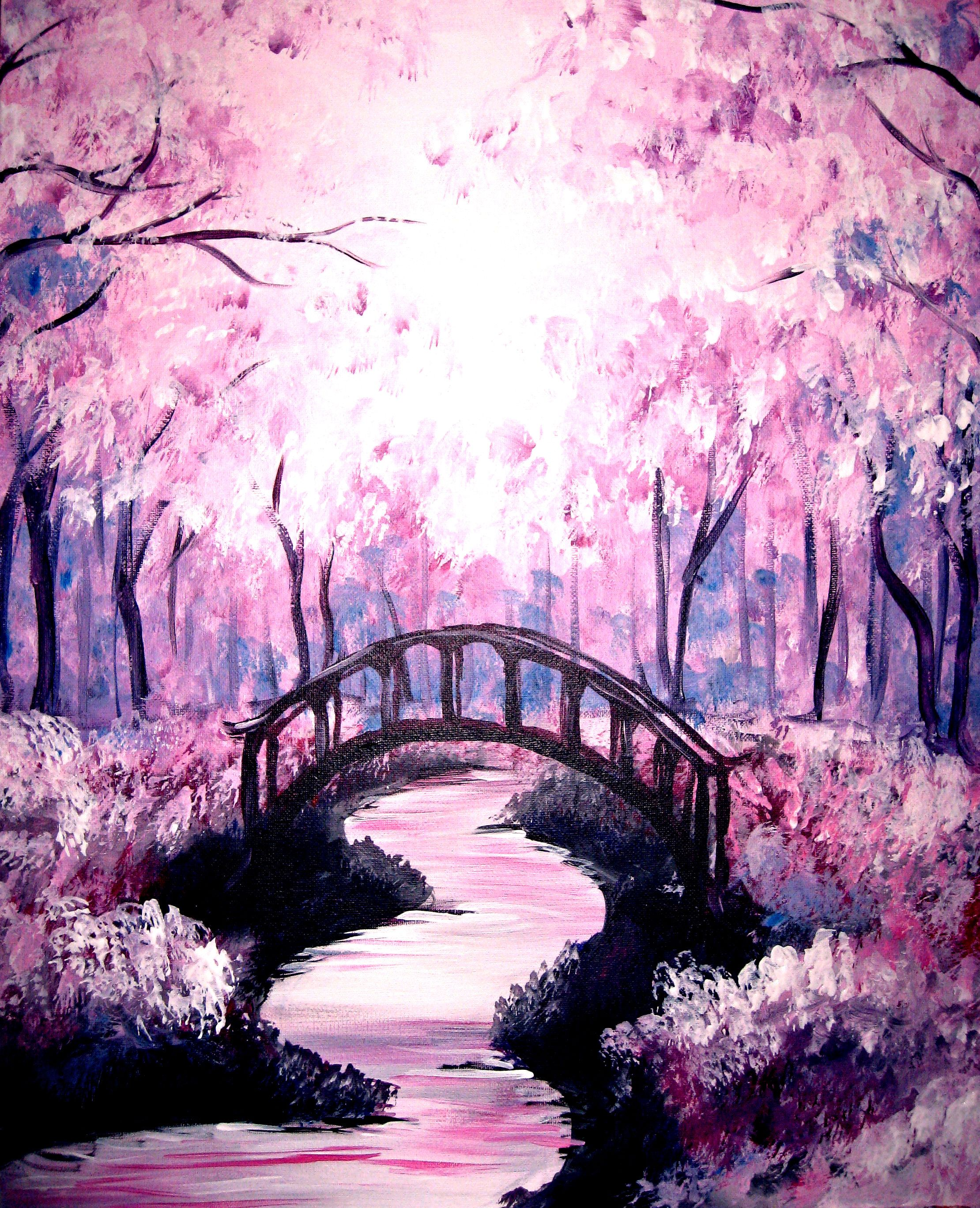 Monochromatic Purple Colors Of The Wind Painting