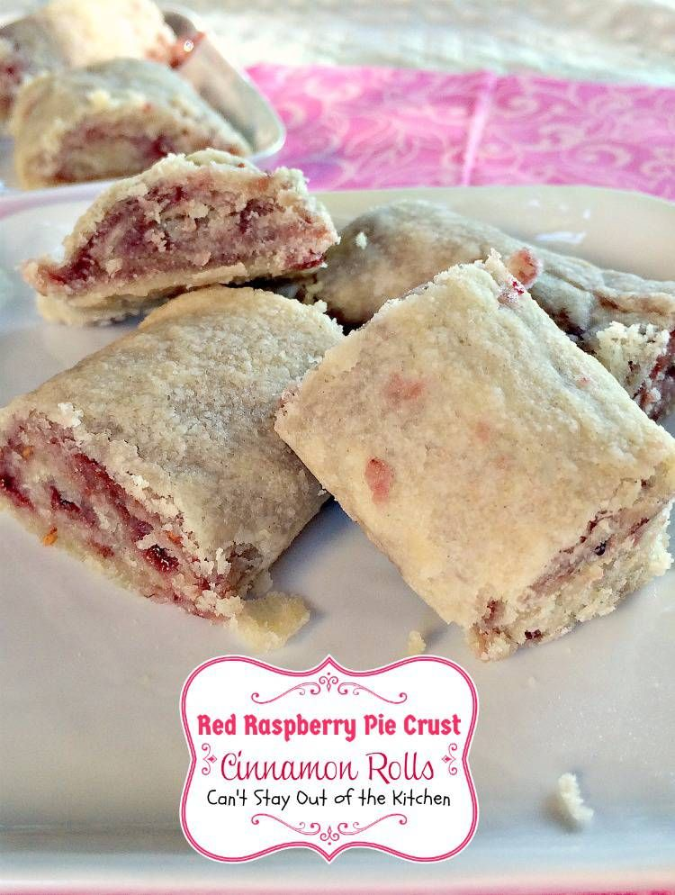 Red Raspberry Pie Crust Cinnamon Rolls | Can't Stay Out of the Kitchen | scrumptious #CinnamonRolls with #redraspberry #jam in the filling. Great for #breakfast or #dessert