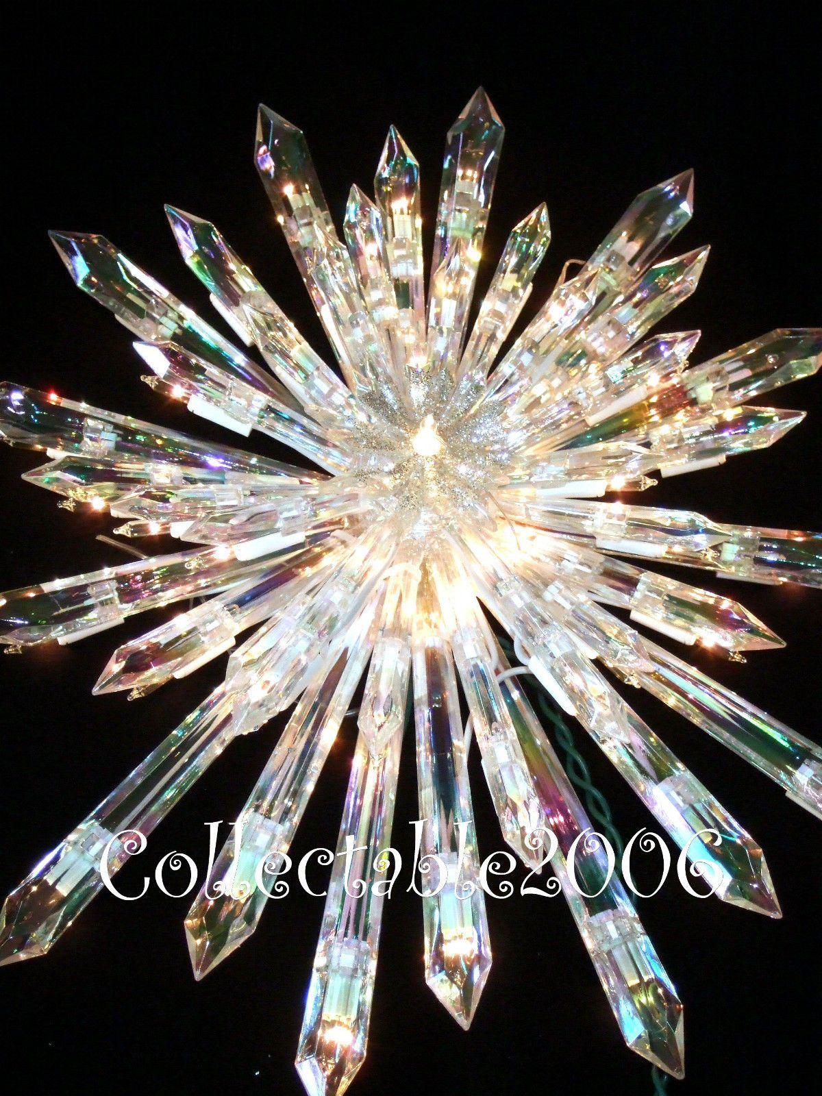 Christmas giant prelit crystal tree topper star huge stunning